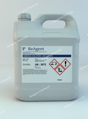 An image showing Ammonium Hydroxide LRG 0.89 SG in a 2.5litre container