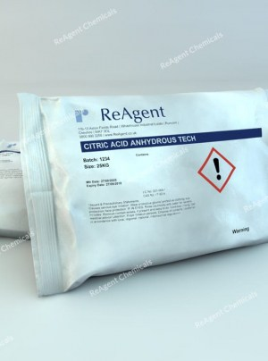 An image showing Citric Acid (General Use) in a 25kg bag