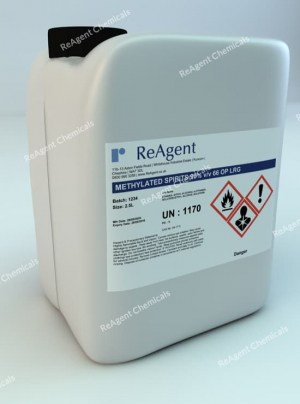 An image showing Industrial Methylated Spirits (Denatured Alcohol) 95% in a 2.5litre container