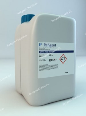 An image showing Nitric Acid 35% w/w in a 5 litre container