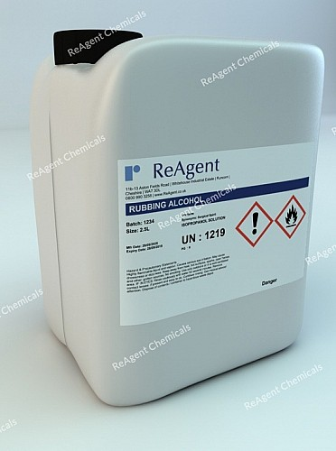 An image showing Rubbing Alcohol in a 2.5litre container