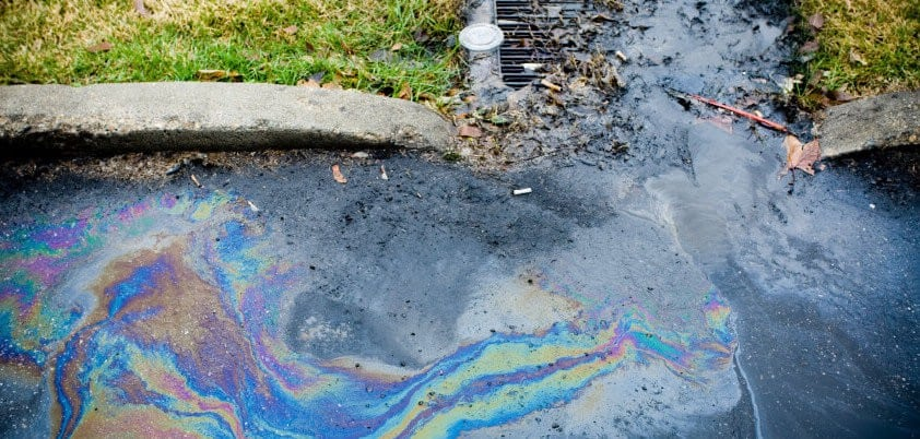 Chemicals polluting the water from being poured down the drain