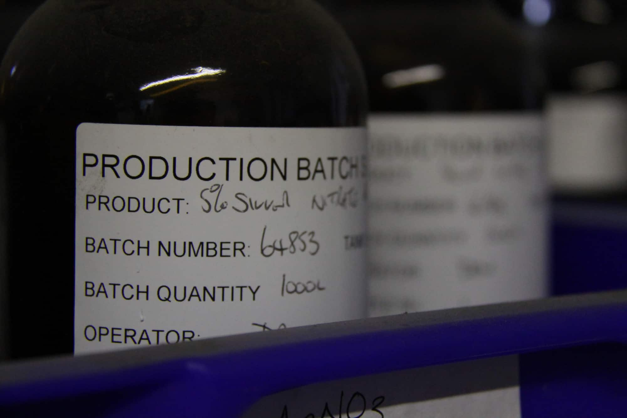 Featured blog image showing a close up of a bottle label