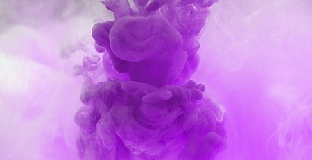 A purple cloud of powder