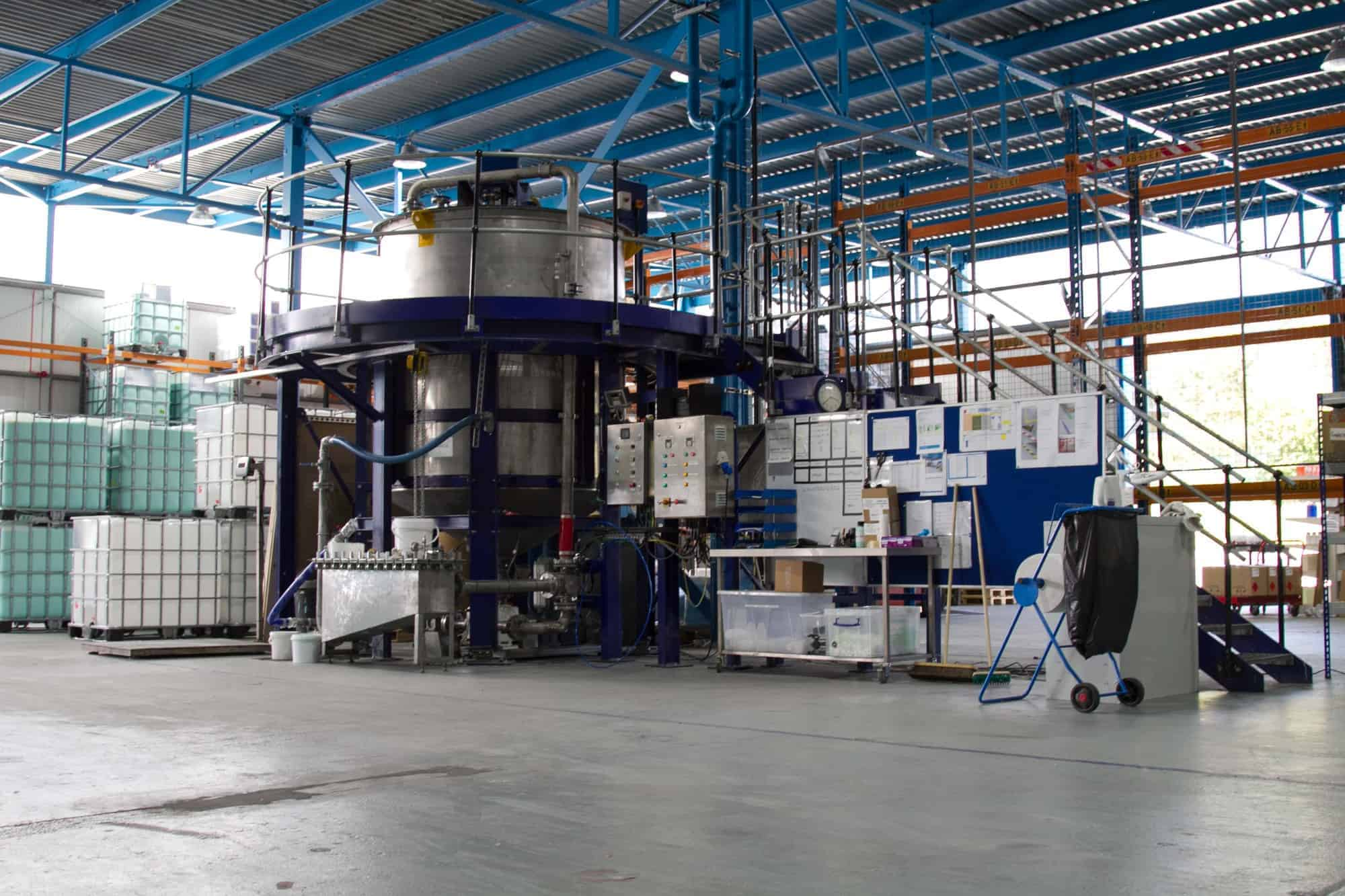 A mixing tank in the ReAgent factory