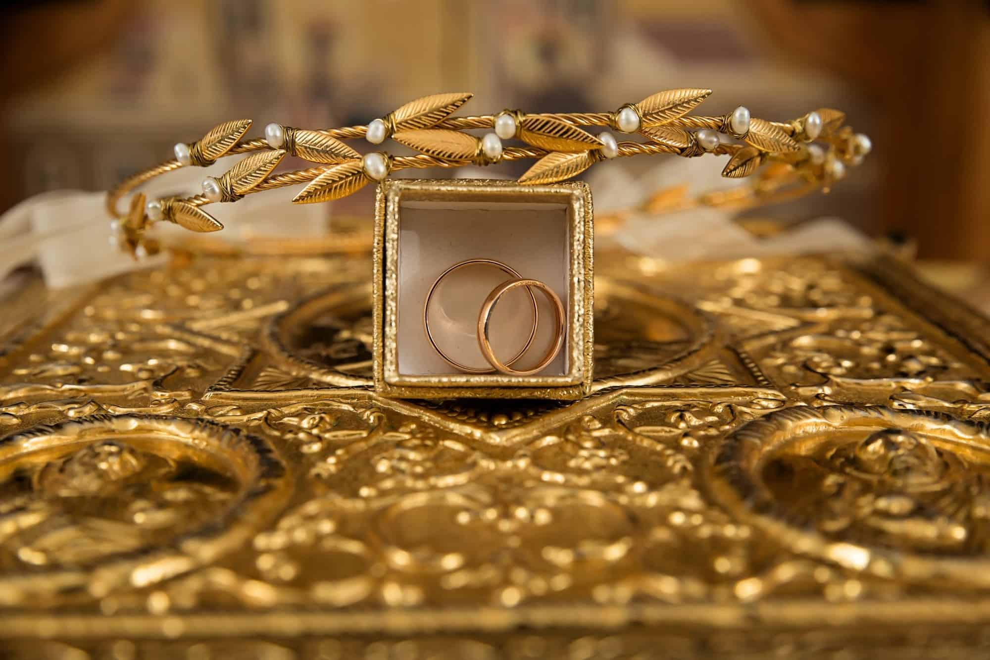 A pile of gold rings