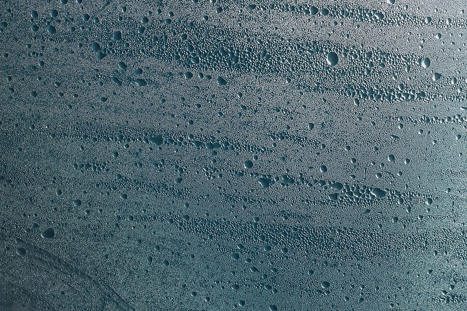 Condensation on a surface.