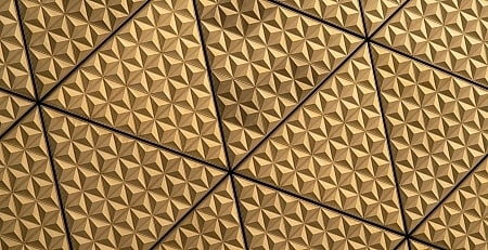 Golden triangular patterns