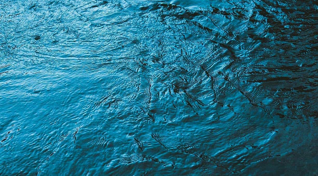 Aerial shot of a body of water