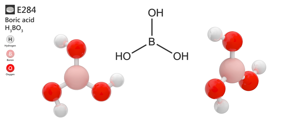The chemical structure of boric acid