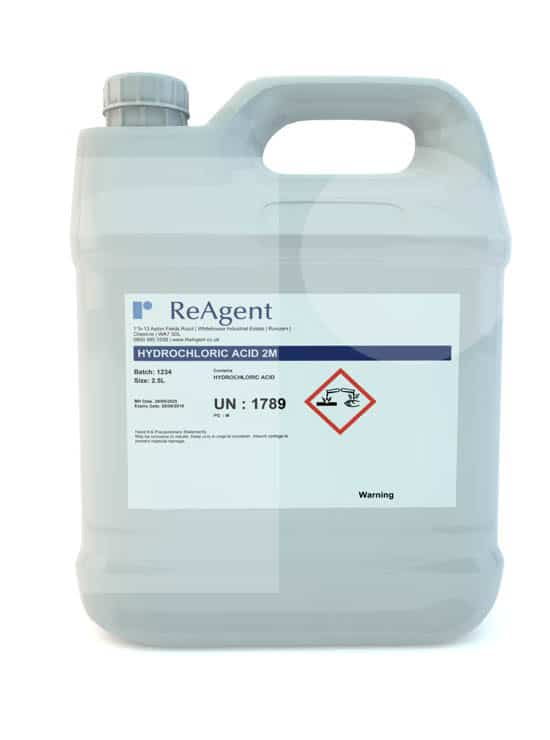 Hydrochloric Acid 2M 2.5L packsize 1