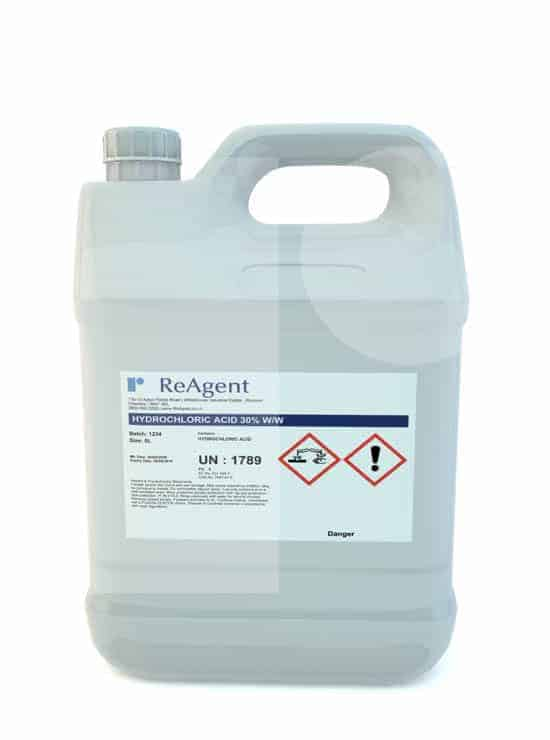 Hydrochloric Acid 30 ww 5L packsize 1