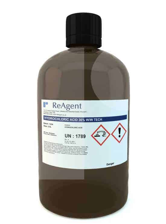 Hydrochloric Acid Laboratory Use 2.5L packsize 1