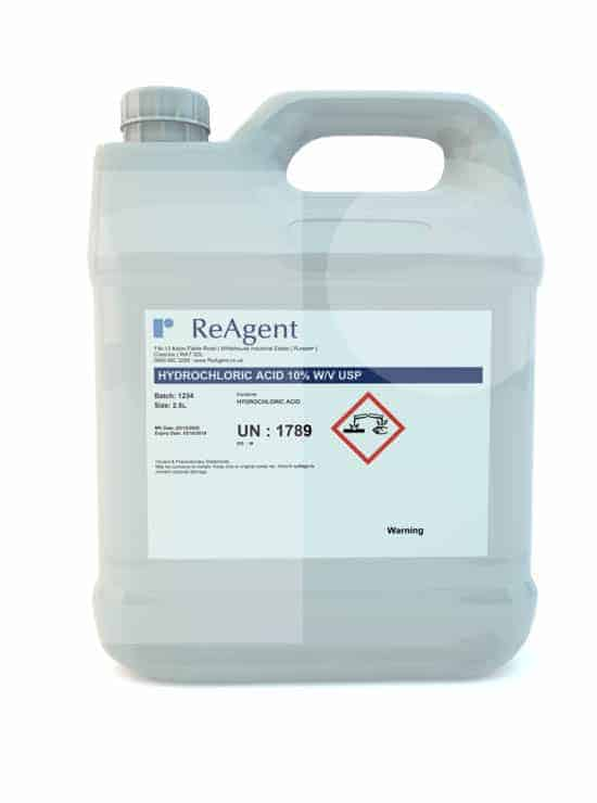Muriatic Acid 10 wv USP 2.5L packsize 1