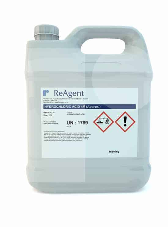 Muriatic Acid 4M approx 2.5L packsize 1